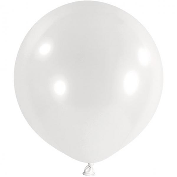 1 Riesenballon - Ø 1m - Weiß