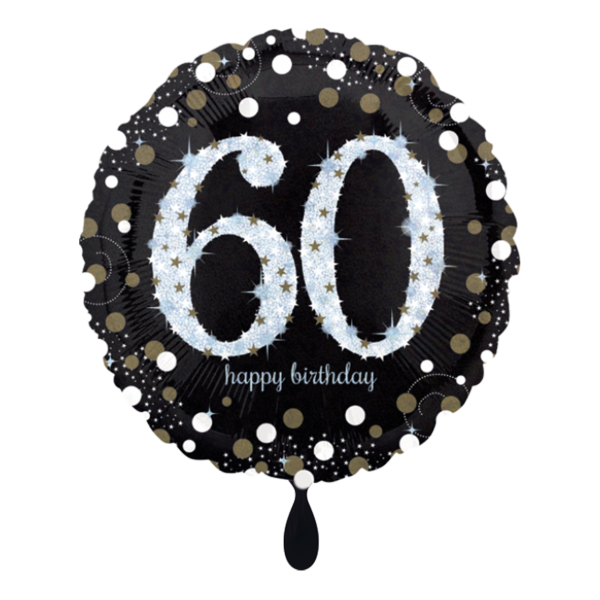 1 Ballon - Sparkling Birthday 60