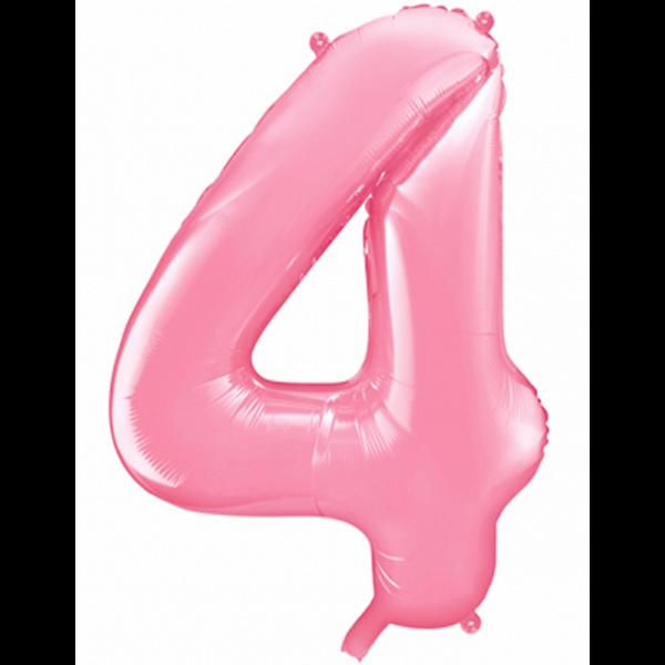 1 Ballon XXL - Zahl 4 - Rosa