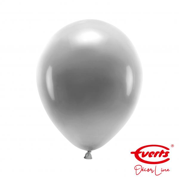 50 Luftballons - DECOR - Ø 28cm - Pearl & Metallic - Silver