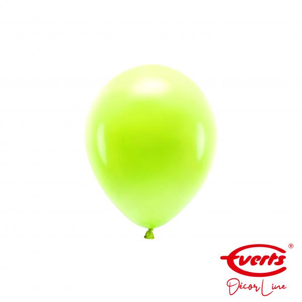 100 Miniballons - DECOR - Ø 13cm - Pearl & Metallic - Kiwi