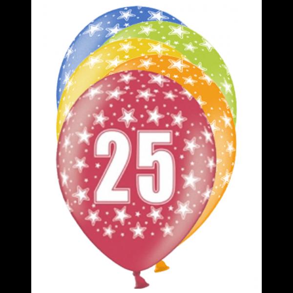 6 Motivballons - Ø 30cm - 25 Celebration