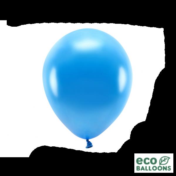 10 ECO-Luftballons - Ø 26cm - Metallic - Blue