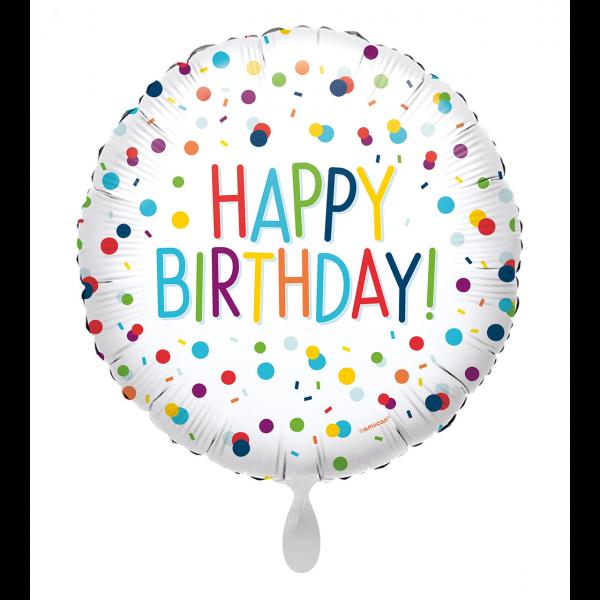 1 Ballon - EU Confetti Birthday
