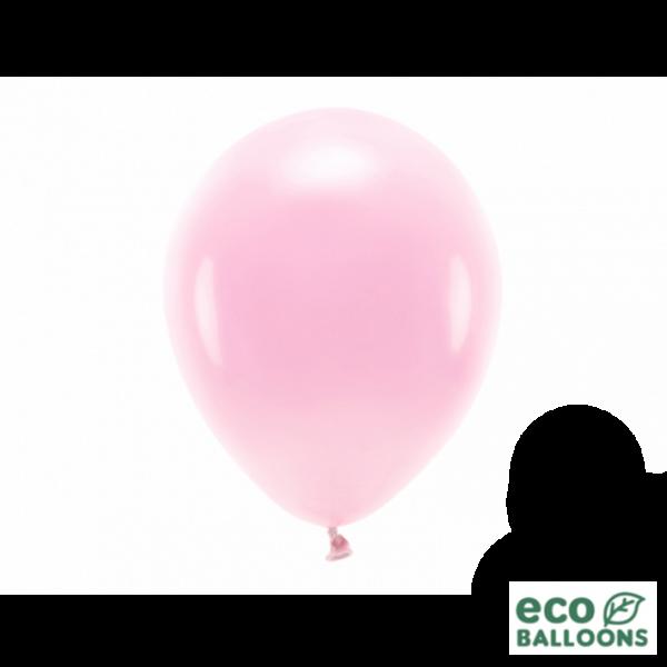 10 ECO-Luftballons - Ø 26cm - Light Pink (Rosa)