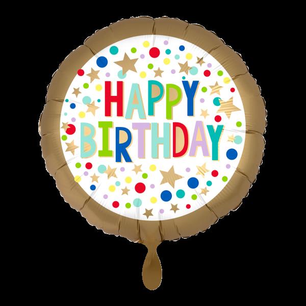 1 Ballon - Gold Satin Marquee Dots