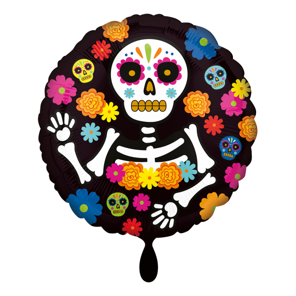 1 Ballon - Day of the Dead Skeleton