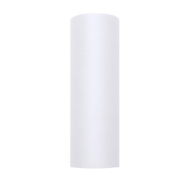 1 Tüllstoff - 15cm - Weiß