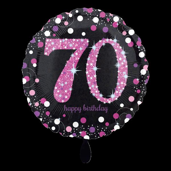 1 Ballon - Pink Celebration 70