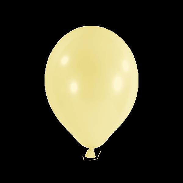 100 Luftballons - Ø 27cm - Pastell - Gelb