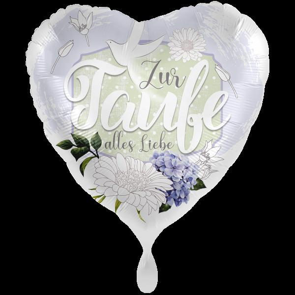 1 Ballon XXL - Taufe Blüten