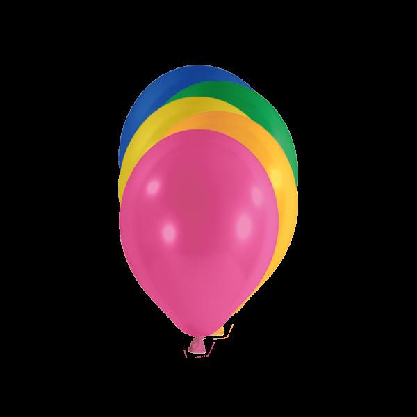 100 Miniballons - Ø 12cm - Bunt