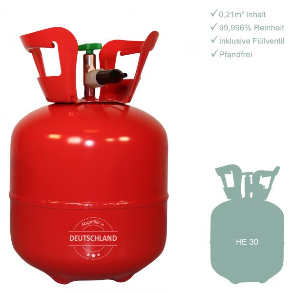 1 Heliumbehälter 30 - Helium für Luftballons - 0,21m³