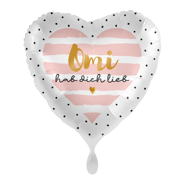 1 Ballon - Omi hab Dich lieb