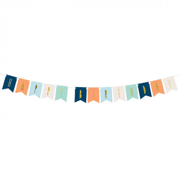 1 Bannergirlande - Happy Birthday - Boyish