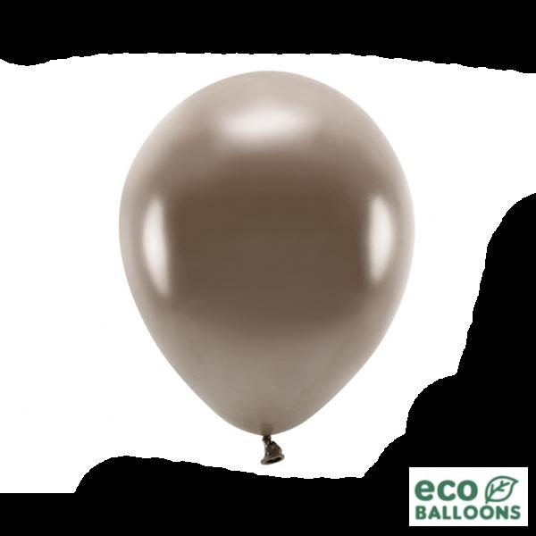 100 ECO-Luftballons - Ø 30cm - Metallic - Brown