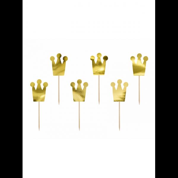 6 Cake Topper - Princess Crown