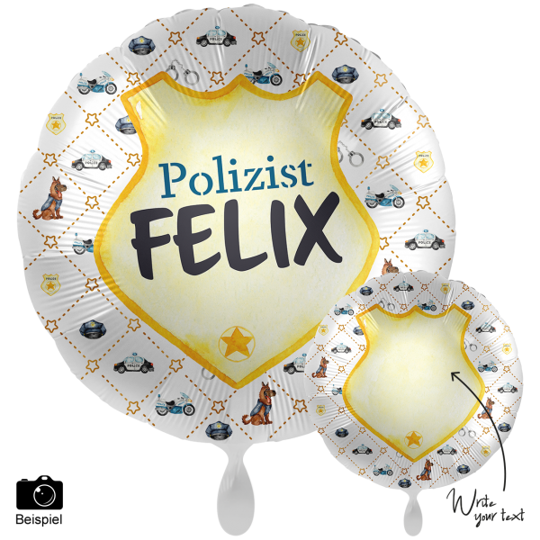 1 Ballon XXL - Personalize IT - Police Academy