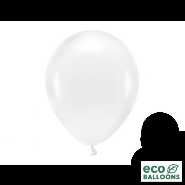 10 ECO-Luftballons - Ø 26cm - Crystal Clear