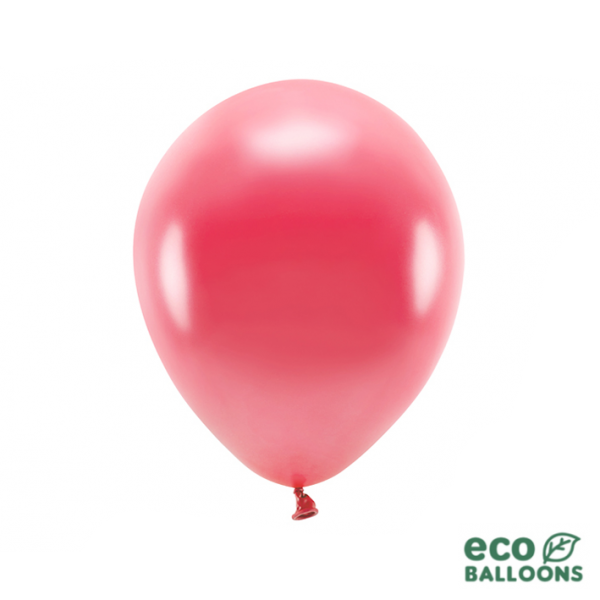 100 ECO-Luftballons - Ø 30cm - Metallic - Light Red