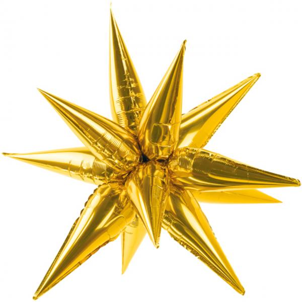 1 Ballon XXL - Stern 3D - XXL - Gold