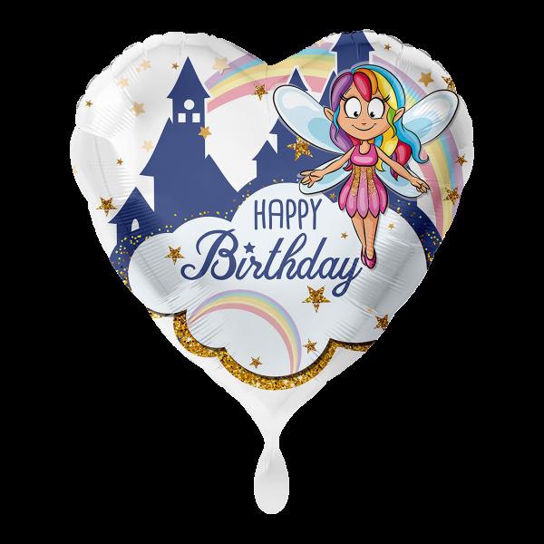 1 Ballon - Fee Glitzer Happy Birthday