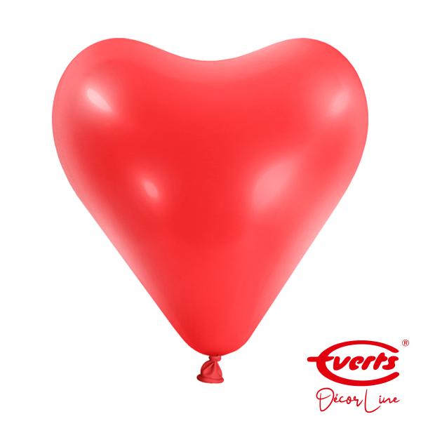 50 Herzballons - DECOR - Ø 30cm - Apple Red
