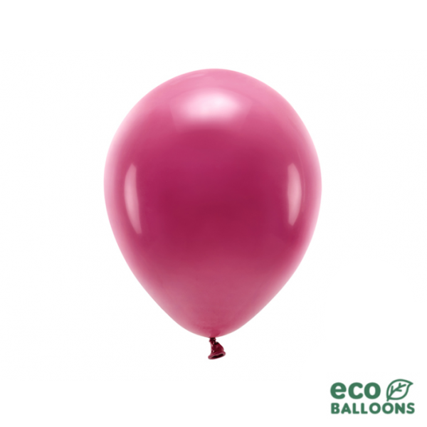 10 ECO-Luftballons - Ø 26cm - Deep Red
