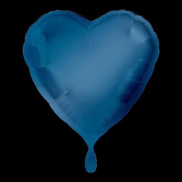 1 Ballon - Herz - Blau