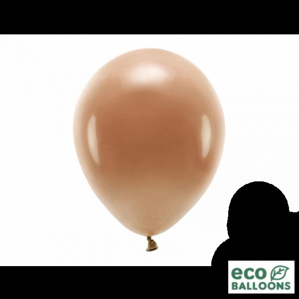 10 ECO-Luftballons - Ø 26cm - Chocolate Brown