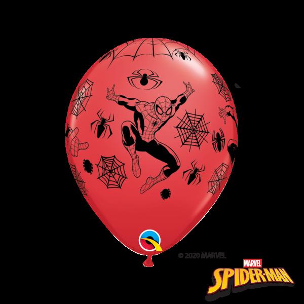 6 Motivballons - Ø 27cm - Spiderman