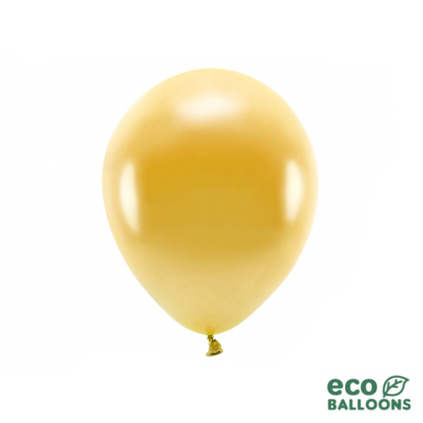 10 ECO-Luftballons - Ø 26cm - Metallic - Gold