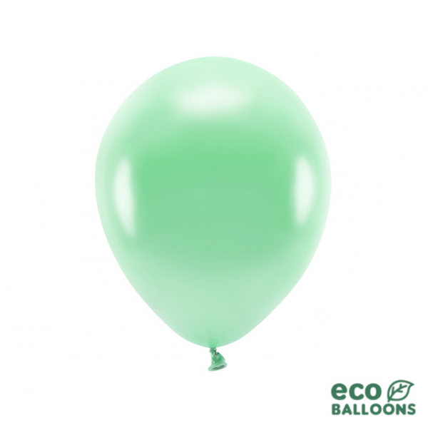10 ECO-Luftballons - Ø 30cm - Metallic - Dark Mint