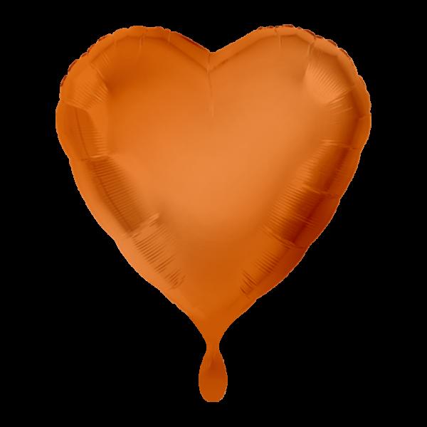 100 Ballons - Herz - Orange - Ø 45cm