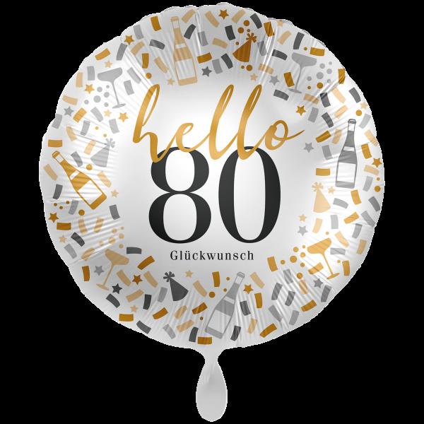 1 Ballon XXL - Hello 80