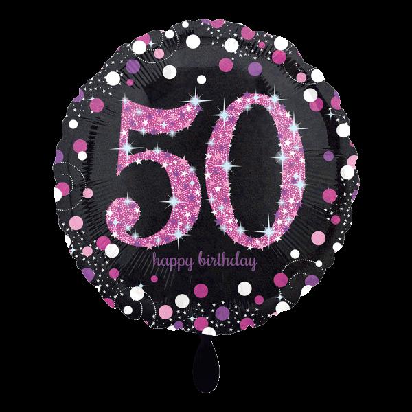 1 Ballon - Pink Celebration 50