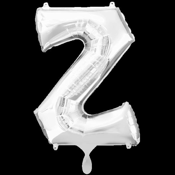 1 Ballon XXL - Buchstabe Z - Silber