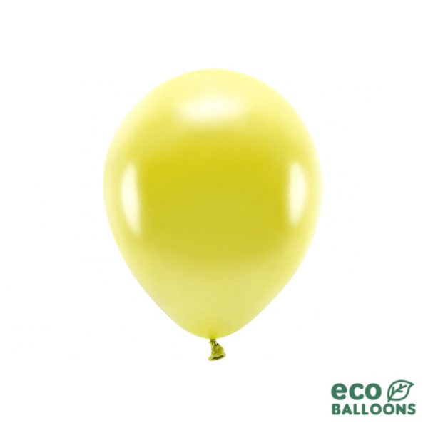 100 ECO-Luftballons - Ø 26cm - Metallic - Yellow