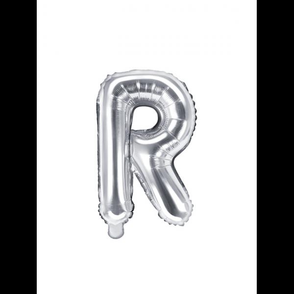 1 Ballon XS - Buchstabe R - Silber