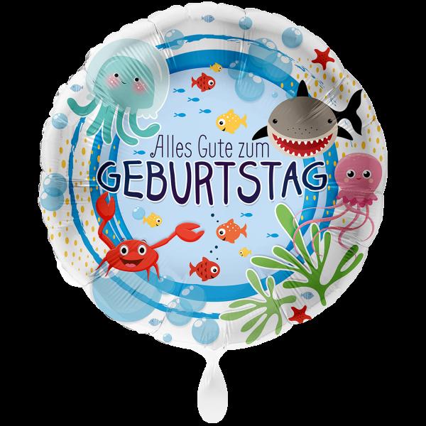 1 Ballon XXL - Geburtstag Unterwasserwelt