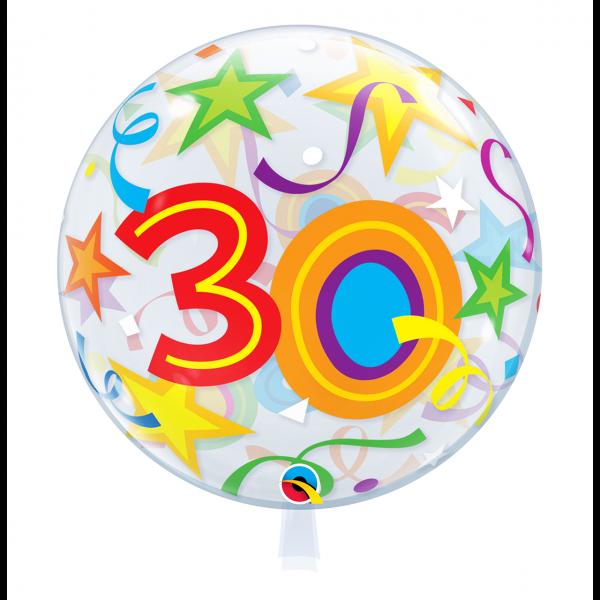 1 Bubble Ballon - 30 Brilliant Stars