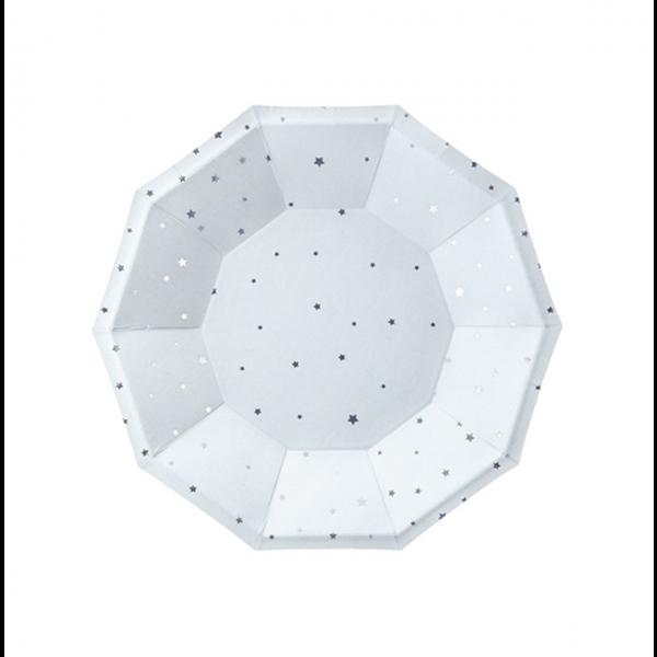 6 Pappteller Trend - Ø 18cm - Stars Hellblau