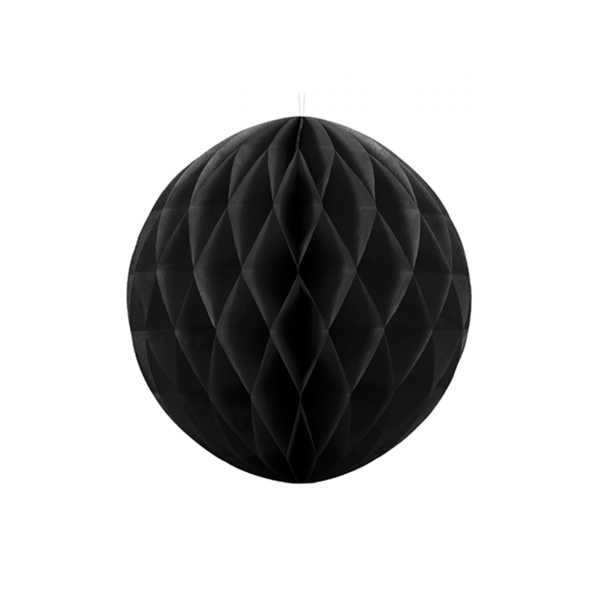 1 Wabenball XL - Ø 20cm - Schwarz