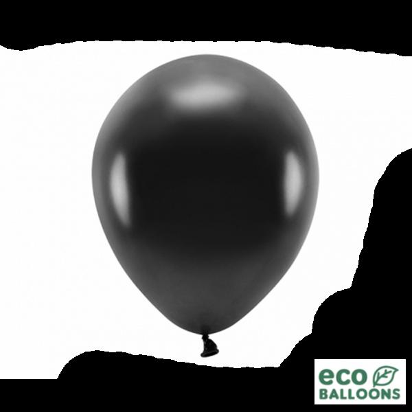 10 ECO-Luftballons - Ø 30cm - Metallic - Black