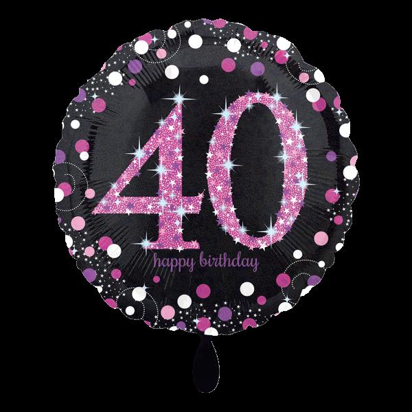 1 Ballon - Pink Celebration 40