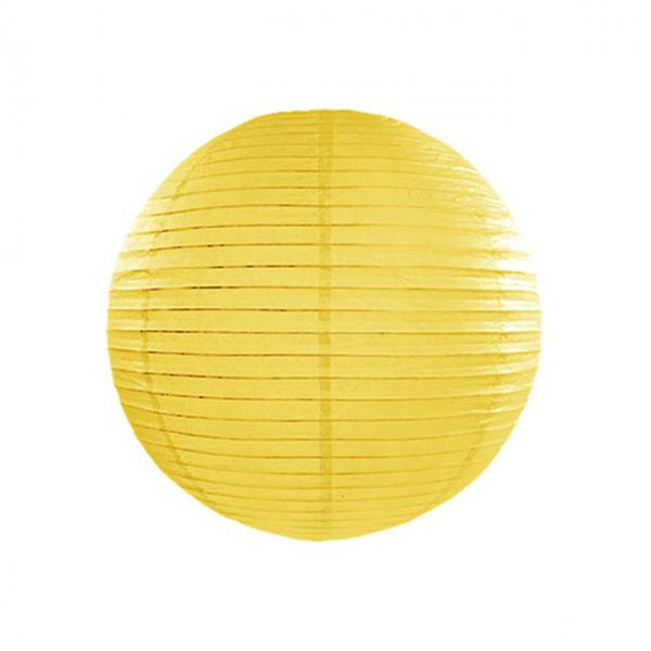 1 Lampion XL - Ø 35cm - Gelb