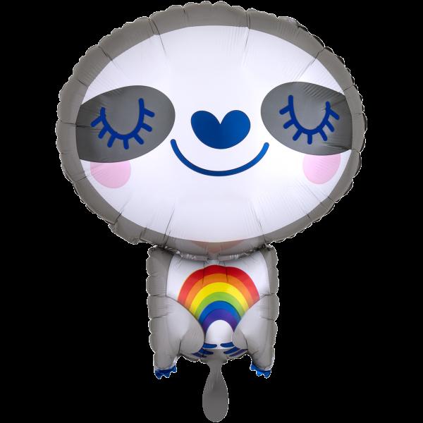1 Ballon - Sloth with Rainbow