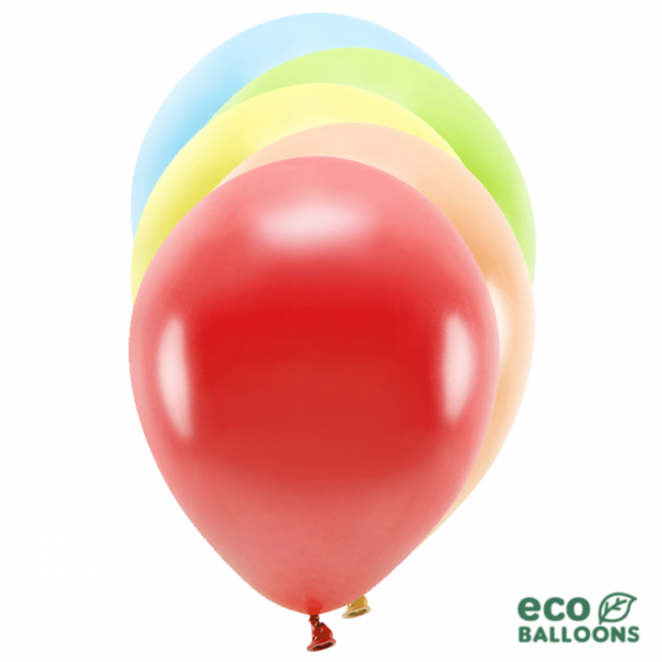 100 ECO-Luftballons - Ø 30cm - Metallic - Mix