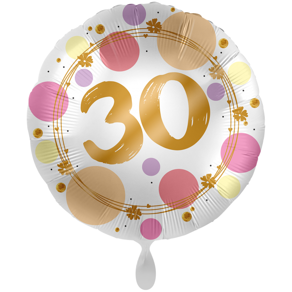 1 Ballon XXL - Shiny Dots 30