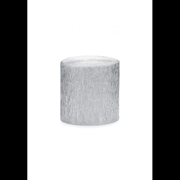 4 Krepp Streamer - Silber
